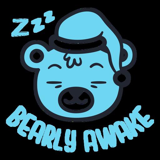 Sleepy bear head design