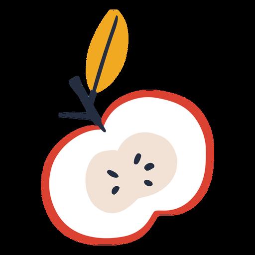 Sliced apple illustration
