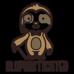 Urso-preguiça com design sofisticado e fofo