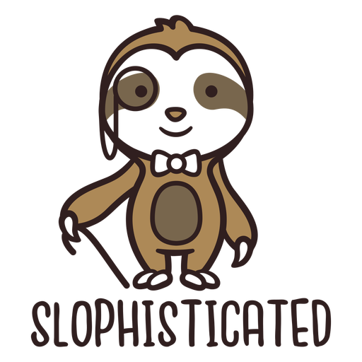 Sloth bear sophisticated cute design