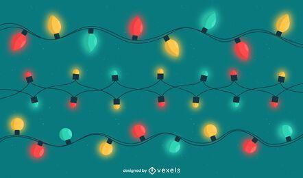 Pacote de luzes de natal coloridas