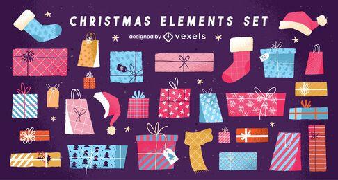 Pacote de Design de presentes de Natal