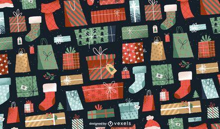 Apresenta design de padrão de Natal