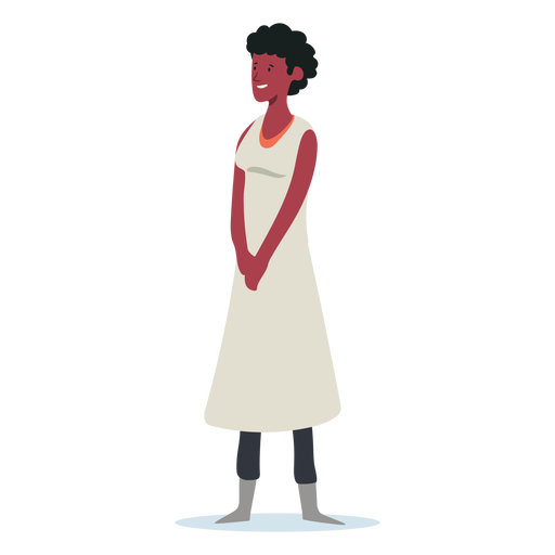 Smiley standing woman character Transparent PNG