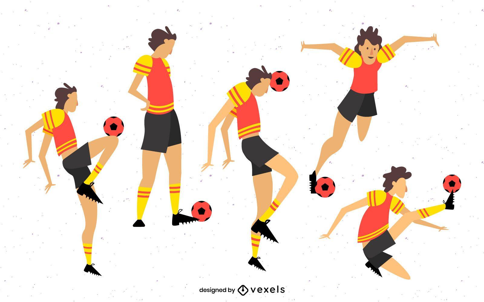 Paquete de personajes de fútbol femenino