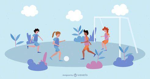 Mädchen Fußball Menschen Pack