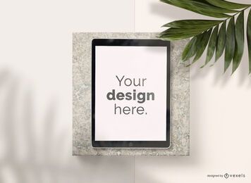 Ipad stone mockup composition