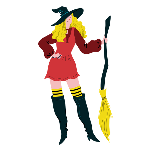 Smiley woman witch costume