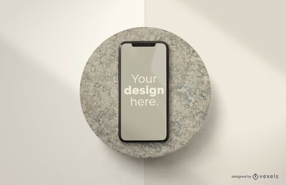 Iphone stone mockup composition