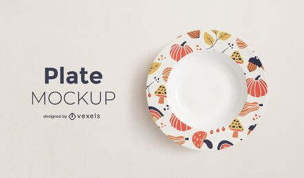 Autumn plate mockup