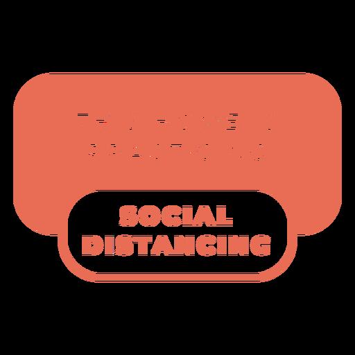 Sinal de alerta de distanciamento social