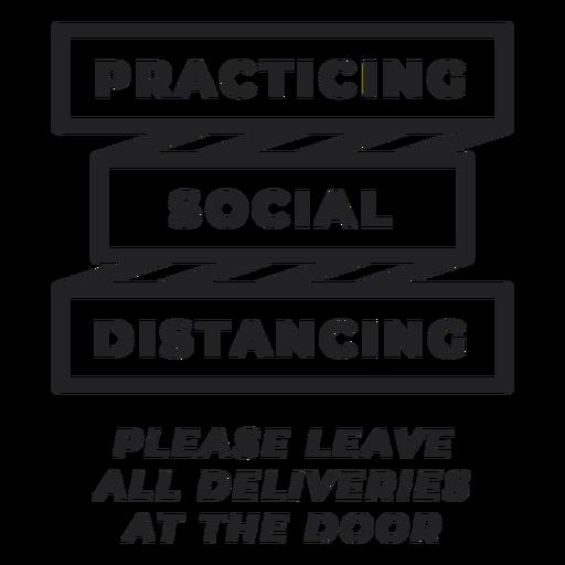 Distanciamento social sinal secreto