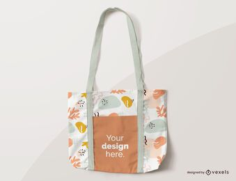Tote bag abstract mockup