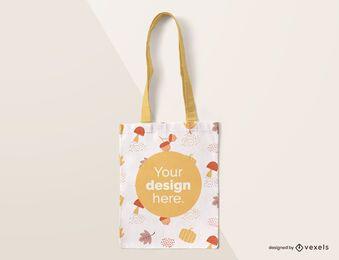 Maqueta de otoño de bolso de mano