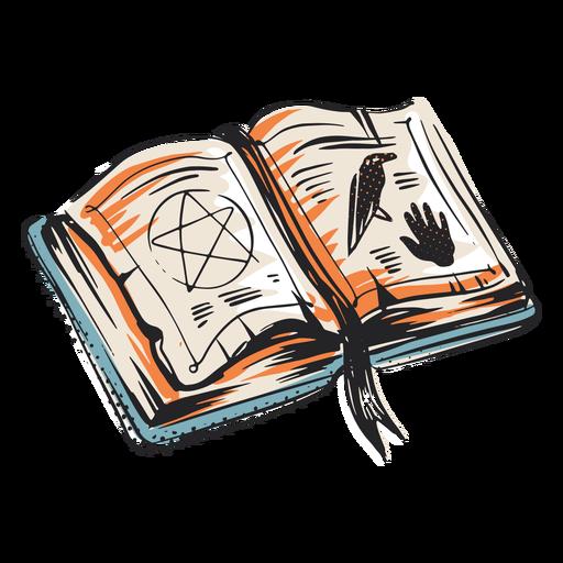 Livro de feitiços ilustração do elemento de halloween