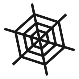 Spider web halloween icon