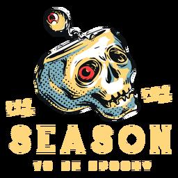 Insignia de calavera aterradora de la temporada de spookey