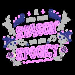 Diseño de letras de temporada espeluznante