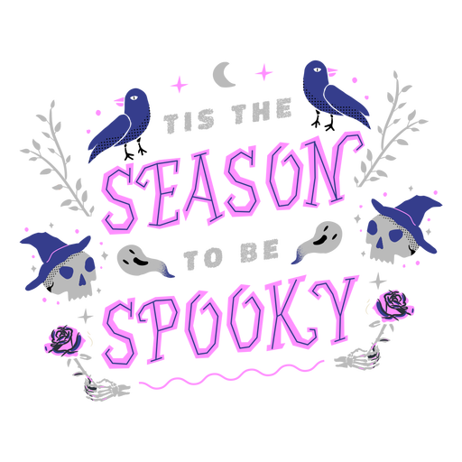 Spooky season lettering design