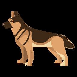Desenho geométrico de cão pastor alemão em pé