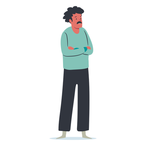 Standing man with mustache