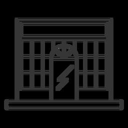 Diseño de trazo de fachada de edificio de tienda