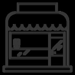 Diseño de trazo de edificio de tienda