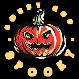 Emblema de abóbora doce e assustador