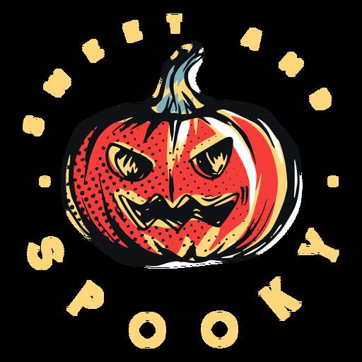 Sweet and spooky pumpkin badge