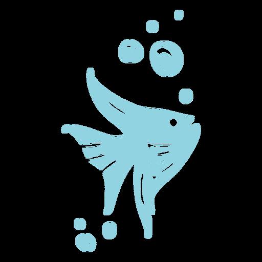 Nadar burbujas de pescado