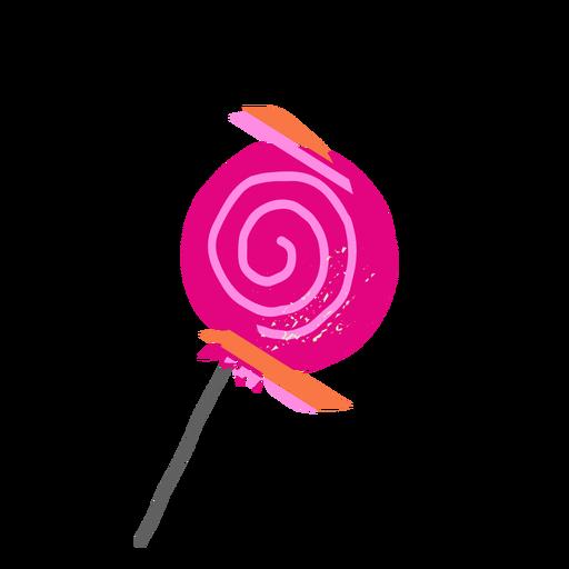 Ilustração de pirulito girando doce