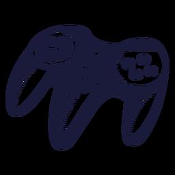 Ilustração do controlador armado três