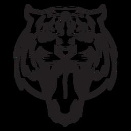 Golpe de cabeça de ataque de tigre