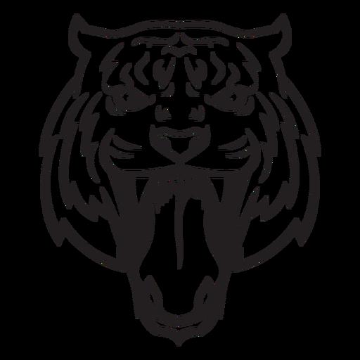Golpe de cabeza de ataque de tigre
