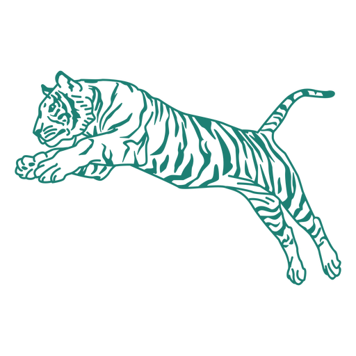 Design de salto de tigre