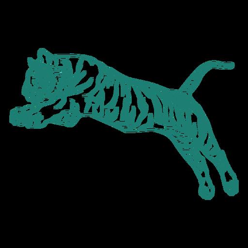 Tiger jumping design