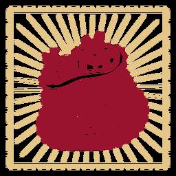 Diseño de decoración vintage de bolsa de juguete
