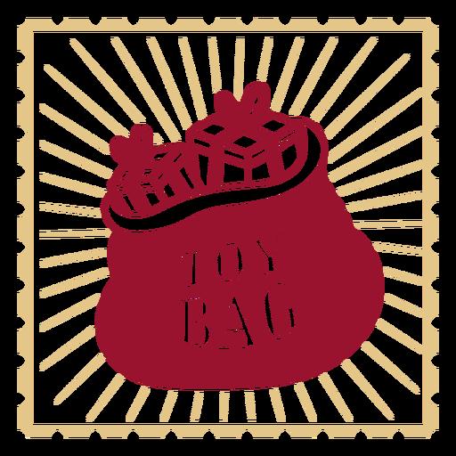 Bolsa de juguete diseño de decoración vintage.