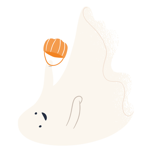 Trick or treat ghost character