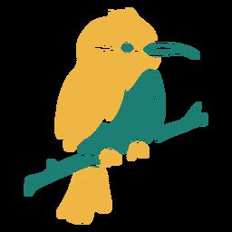 Pájaro tropical en una rama