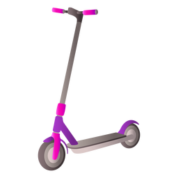 Diseño realista de scooter de dos ruedas