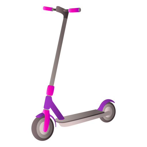 Diseño realista de scooter de dos ruedas.