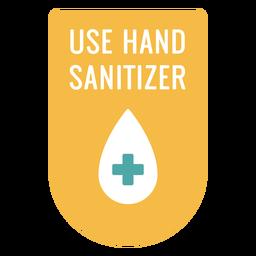 Usar letrero desinfectante para manos