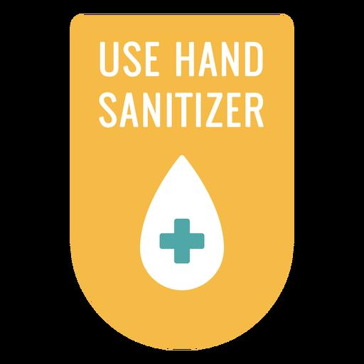 Use señal de desinfectante de manos