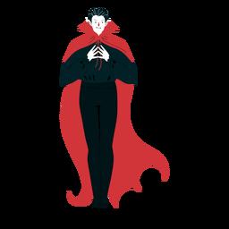 Abrigo de personaje vampiro