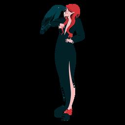 Cuervo de personaje vampiro