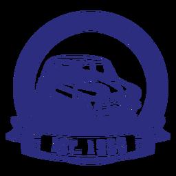 Taller mecánico de insignia de coches antiguos