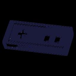 Ilustração de jogo controlador vintage