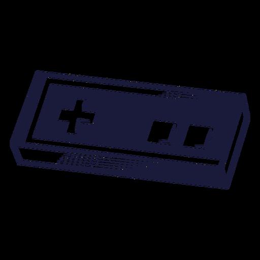 Ilustración de juego de controlador vintage