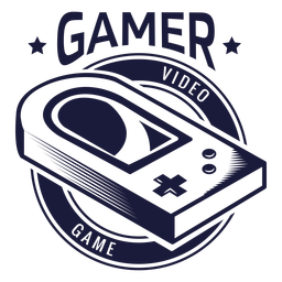 Distintivo de videogame vintage